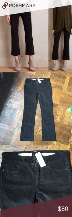 """Pilcro Stet Cropped Flare Cords Pilcro Stet Cropped Flare Cross By Pilcro. Classic mid-rise pair, retooled with an on-trend, this-calls-for-heels flare. From Pilcro, an Anthropologie-exclusive collection. Stretch cotton corduroy Cropped flare fit Five-pocket styling Machine wash Regular: 25"""" inseam 7.5"""" mid rise; 14"""" waist. Final image shows fit Anthropologie Pants Ankle & Cropped"""