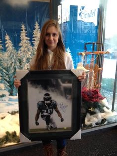 Brittney C. was the winner of the Brian Dawkins autographed photograph!
