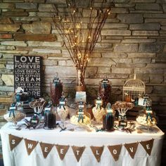 Different sign colours but love this idea for my candy bar