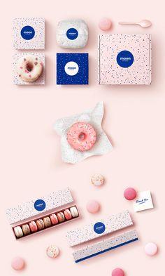 Moon Patisserie on Behance Dessert Packaging, Bakery Packaging, Food Packaging Design, Packaging Design Inspiration, Brand Packaging, Macaron Packaging, Corporate Design, Brand Identity Design, Graphic Design Branding