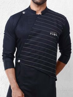 Black designer festive wear kurta suit - G3-MKS1146 | G3fashion.com