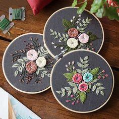 DIY Embroidery Flower Handwork Needlework for Beginner Cross Stitch Kit Ribbon Painting Embroidery Hoop Home. Title: DIY Embroidery Flower Handwork Needlework for Beginner Cross Stitch Kit Ribbon Diy Embroidery Flowers, Diy Embroidery Kit, Floral Embroidery Patterns, Modern Embroidery, Embroidery For Beginners, Hand Embroidery Designs, Beaded Embroidery, Embroidery Hoops, Crewel Embroidery