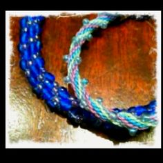 First two Kumihimo bracelets...