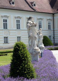 Klostergärten in Niederösterreich - Lavendel im Stift Altenburg  ... #gärten #reisen