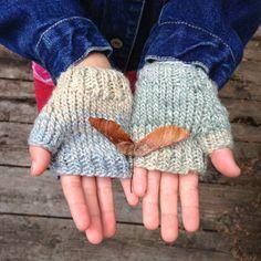 Children's Fingerless Gloves Silk Blend Wool Knitted by FlowerPot (Accessories, Gloves & Mittens, fingerless gloves, kids, etsykids, toronto team, back to school, knit, wool, fall fashion, hand warmers, children fashion, flowerpot designs, girls accessories, ohcanadateam)