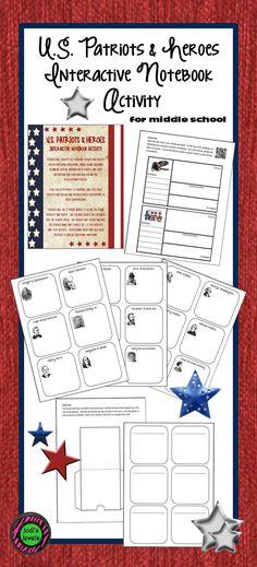U.S. Patriots and Heroes Interactive Notebook Activity