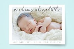 Uptown Introduction Birth Announcements by Olivia ...   Minted