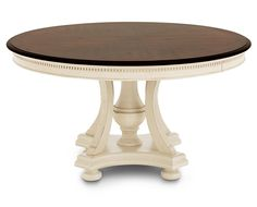 Dining Tables-Bridgeport Round Dining Table-Aged with a contrasting tabletop Paint Furniture, Dining Room Furniture, Luxury Furniture, Kitchen Chairs, Dining Chairs, Kitchen Dining, 48 Round Dining Table, Nook Table, Home Decor