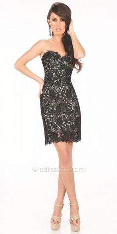 Cassidy Lace Prom Dress by Mon Cheri Shorts  #dress #dresses #prom #promdress #moncheri #moncherishorts #designer #fashion #edressme