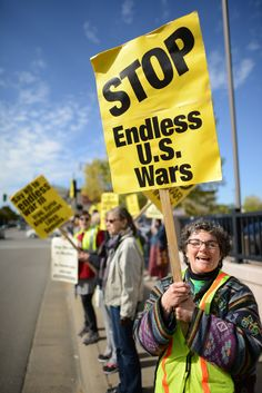 Protest against endless U.S. wars