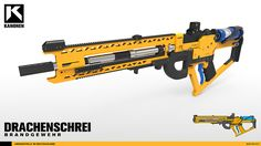 ArtStation - Drachenschrei , Andre-L Huynh Sci Fi Weapons, Concept Weapons, Fantasy Weapons, Weapons Guns, Nerf Rifle, Futuristic Armour, Gear Art, Future Weapons, Luxury Homes Dream Houses