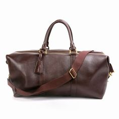 Luxe Mulberry Men Hand Clipper Natural Leather Bag Brown