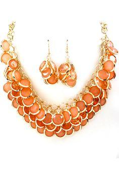 Apricot Lotta Necklace Set