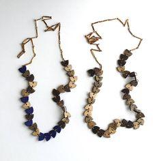 Half-Circle Brass Necklace by Jibby + Juna