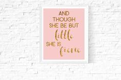 She is Fierce Quote Art Printable   https://www.vivabop.co.uk/products/she-is-fierce-art-printable