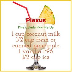 Plexus P96 shakes are awesome!! Pina colada for summer? Yes please!  Comes in Vanilla and Chocolate, order yours today! www.shopmyplexus.com/marcyblaney