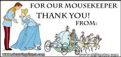 DIY Mousekeeping Tip Envelopes.
