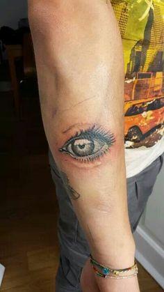 Eye realistic tattoo