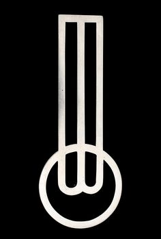 scandinaviancollectors:  Monograph brooch BO by Wiwen Nilsson, Sweden, 1939. Sterling silver.