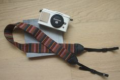 Bohemian Style -- Woven Color Stripes Patterned Camera Strap  (adjustable length)