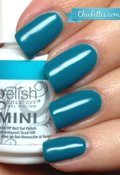 My color this week: Gelish Garden Teal Party from the Love in Bloom Collection