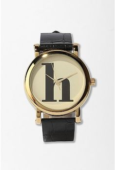 typewriter initial watch // urban outfitter