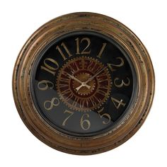 Large Clock With Distressed Hand painted Frame 130-003