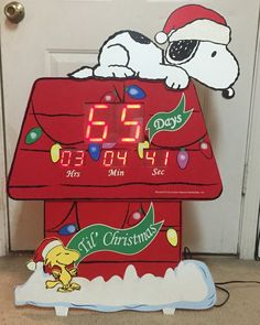 Snoopy Countdown to Christmas Digital 36 Inch Display Timer Indoor Outdoor