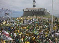 #LEIAMAIS WWW.OBSERVADORINDEPENDETE.COM  SALVADOR:  Manifestantes voltam a se concentrar no Farol da Barra e encerram protesto contra Dilma Rousseff