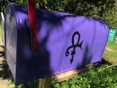 The Purple One Mailbox! Prince Paisley Park, Roger Nelson, Prince Rogers Nelson, Purple Reign, Loving U, Mailbox, Murals, Mail Drop Box, Wall Paintings