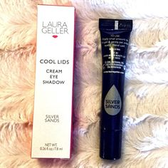 Laura Geller Cool Lids Cream Eyeshadow Silver Brand new in box. Silver sands very light silvery color great as a primer base for shimmery colors. I offer 20% off bundles of 2+ items Laura Geller Makeup Eyeshadow