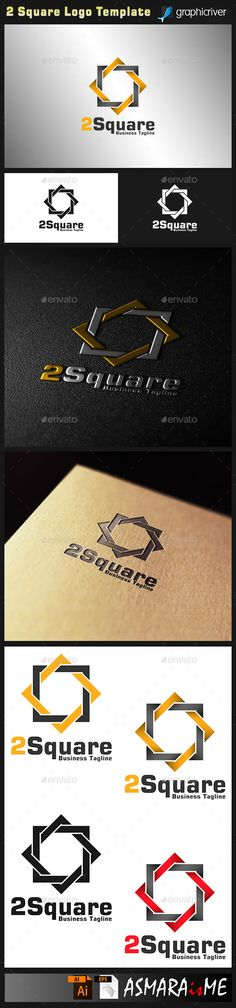 File Description  2 Square is a Stylish Rectangle logo with 2 Square combination concept, make this logo looks Strong, nice, and e