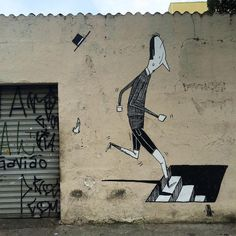 It's not often that you walk down the street and encounter an artwork that warms your heart or brings a smile to your face, but for Brazilian street artist and muralist Alex Senna, positive emotion seems to be his visual currency. His lanky black and white characters are often found in a variety of