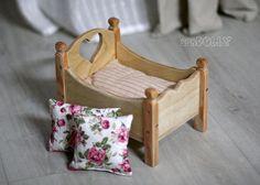 Мини кроватка для маленьких кукол и пупсиков - кровать,кроватка,кроватка для кукол