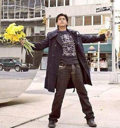 Embedded image permalink-Stand, and stand tall. Open your arms and embrace life just like you know how! Kabhi Alvida Naa Kehna, Karan Johar, Shahrukh Khan, Film Director, Stand Tall, Bollywood, Indian, Actors, Films