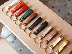 Personalized Leather Keychainwith the ring by SunGoddessCollars