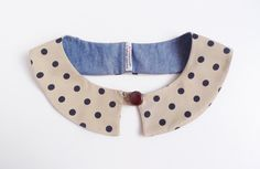 Coco collar - navy & beige polka dots. $20.00, via Etsy.