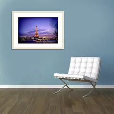 Paris Photography Eiffel tower lights violet by LynnLangmade