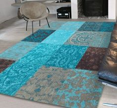 Vintage 8105 Turquoise Rugs - buy online at Modern Rugs UK