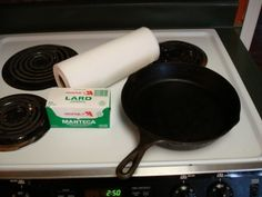 How To Season A Cast Iron Skillet ~ http://www.southernplate.com. Amy you have cast iron skillets that are handed down from 5 generations here is the correct way to use and clean them.