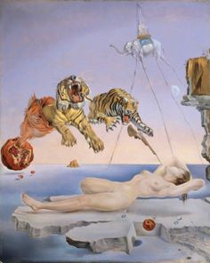 Salvador Dalí, Dream Caused by the Flight of a Bee Around a Pomegranate, 1944
