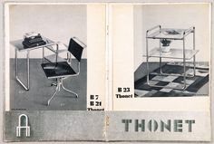 Kurt Schmidt, brochure for Thonet, 1930