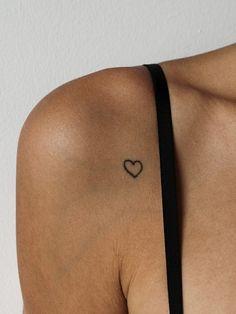 Heart outline on shoulder. #tattoo #ink