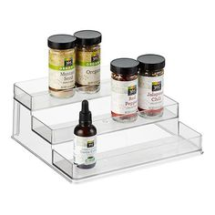 Organize your pantry with pantry organizers from The Container Store! Our pantry organizers come in many designs and sizes to fit any kitchen pantry space. Spice Storage, Spice Organization, Pantry Storage, Makeup Organization, Kitchen Storage, Organizing Tools, Kitchen Racks, Medicine Organization, Pantry Shelving