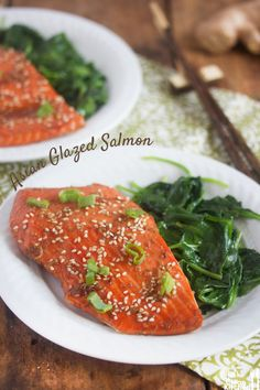 Healthy Food Friday: Ginger {Sticky Asian Glazed Salmon}