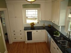Kitchens With White Cabinets And Green Walls i love this kitchen!!!green walls, white cabinets, black