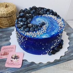 Galaxy cake too sweet - # cake # sweet # too - Galaxy Torten - Gateau Pretty Cakes, Cute Cakes, Beautiful Cakes, Amazing Cakes, Unique Cakes, Creative Cakes, Köstliche Desserts, Delicious Desserts, Galaxy Cake
