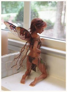 The Captive FAERIE SCULPTURE by ~pixiwillow on deviantART