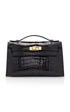 b3acf3bbcea Hermes Black Alligator Kelly Pochette by Hermès | Moda Operandi Luxury  Dress, Hermes Handbags,