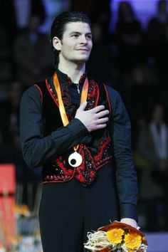 Stephane Lambiel   He skates the way I'd do if I were a skater,and he's also a sweet person